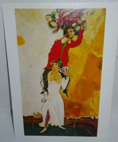 MARC CHAGALL Double Portrait with a Glass of Wine 1917-18 TASCHEN Postcard