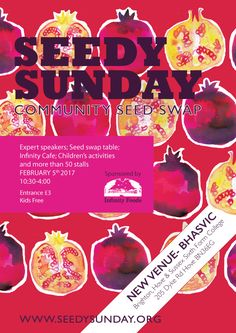 Seedy Sunday Brighton 2017 poster by Lucid Design the UKs Largest Seed Community Seed Swap