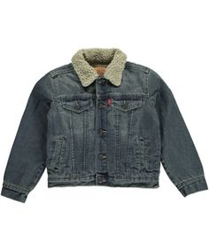 "Levi's Little Boys' Toddler ""Sherpa Collar"" Denim Jacket (Sizes 2T – 4T) - Cookie's"