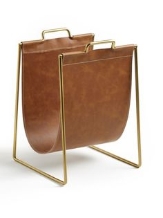 Hiba Magazine Rack La Redoute Interieurs - Home & Furniture Range Magazine, Magazine Rack, Home Decor Accessories, Decorative Accessories, Cool Fathers Day Gifts, Mad Men Fashion, Havana Brown, Structure Metal, Bed With Drawers