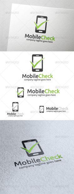 Mobile Check - Symbols Logo Templates