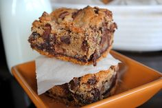 Chocolate Chip Toffee Fudge Cookie Bars - Shugary Sweets