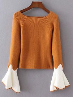 SHARE & Get it FREE | Bell Sleeve Contrasting JumperFor Fashion Lovers only:80,000+ Items • New Arrivals Daily Join Zaful: Get YOUR $50 NOW!