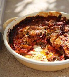 Gratin d'aubergines facile On peut ajouter ou remplacer par ail, oignon, crème fraîche, steak haché, jambon blanc, fromage de chèvre, gruyère.