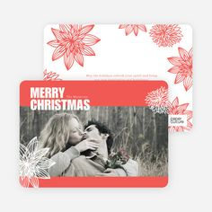 Merry Christmas Poinsettia Cards from Paper Culture