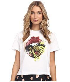 RED VALENTINO Lip and Frog Tee