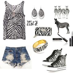 """Zebra:)"" by nature4361 on Polyvore"