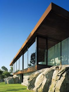 Private villa, Norway by WRBDesignRulz14 September 2010This private villa, completed in 2009 is located in Haugestund, Norway.Lying for 145 sqm, a concrete box is ready for liv... Architecture Check more at http://rusticnordic.com/private-villa-norway-by-wrb/
