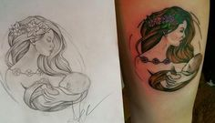 """""""Got my breastfeeding tattoo yesterday and I love it!"""" Illustration credit goes to- Adam harbor  and tattooist Grace over at Mystic Images Tattoo"""