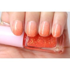 Manicure Monday Etude House Juicy Cocktail Gradation Nails in... ❤ liked on Polyvore featuring nails, makeup, beauty, nail polish and makeup/nails
