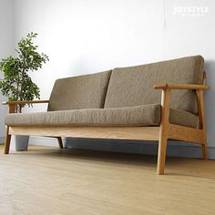joystyle-interior | Rakuten Global Market: There is three credit sofa SALA-3P ※ washable cloth for design that a full cover ring sofa domestic production sofa wooden sofa back lattice of the frame made by 180cm in width Japanese oak materials Japanese oak pure wood is attractive!