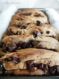 Cranberry Chocolate Pull-Apart Bread - Bakerette