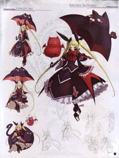 Rachel Alucard is a Lolita Goth style playable character in the BlazBlue games Calamity Trigger and Continuum Shift. #LolitaGoth