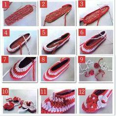 Aprender a hacer un zapato tejido a crochet.