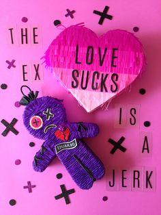The Hex Doll / Anti San Valentines Day / Voodoo Doll / I hate valentines day / Party Ideas / Muñeco Vudu / Fiesta de San Valentin / piñata