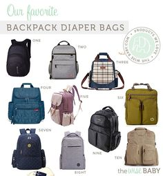 Our favorite backpack diaper bags