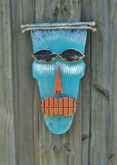 Primitive Wall Hanging Tiki Man Wood Sculpture by TheSavvyShopper1, $25.00