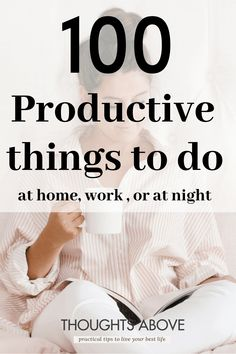 Wondering what to do on your day off or simply Looking for some inspiration of productive things to do either When bored In summer or even at home? This article has the best list most even successful people use every day. things to do when bored for adults #productive #productivity #goals #summer #girlboss #habits #bosslady Productive Things To Do, Things To Do At Home, Habits Of Successful People, Productive Day, Self Improvement Quotes, Things To Do When Bored, Look Here, Bored At Work, Learn A New Skill