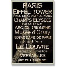 Show off your Parisian roots or maybe your love for anything French with this cafe wall art. This Paris cafe decor features an attractive text design that's bound to get admiring glances. The saw toot