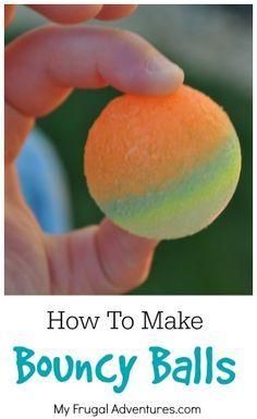 Cómo hacer casera Bouncy Balls - artesanía de los niños muy divertidos!