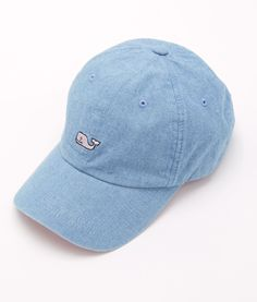 Shop Chambray Whale Logo Baseball Hat at vineyard vines