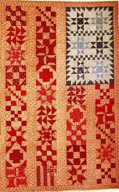 Primitive Folk Art Pattern  Old Glory by by PrimitiveQuilting, $12.95