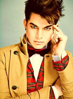 Adam Lambert. Yes, I'm an American Idol fan. The makeovers are incredible. Adam to me was the first serious showman on that show. His talent was and is apparent.