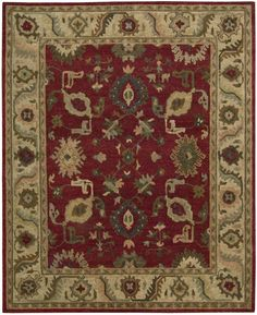 Nourison Tahoe Red Area Rug TA08 RED (Rectangle)