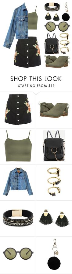 """""""Untitled 349"""" by meaganmuffins ❤ liked on Polyvore featuring Topshop, Rocket Dog, WearAll, WithChic, Levi's, Noir Jewelry, Design Lab, Lucky Brand, Electric and Twinset"""