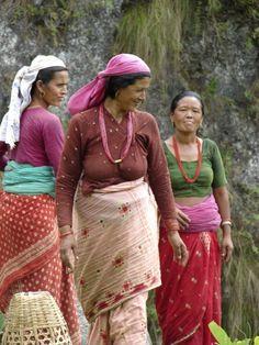 The women of Pokhara, Nepal.