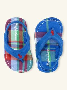 Ralph Lauren flip flops for the little guy :)