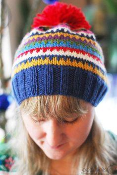 Scrappy Ski Hat - a free pattern - Lete's Knits