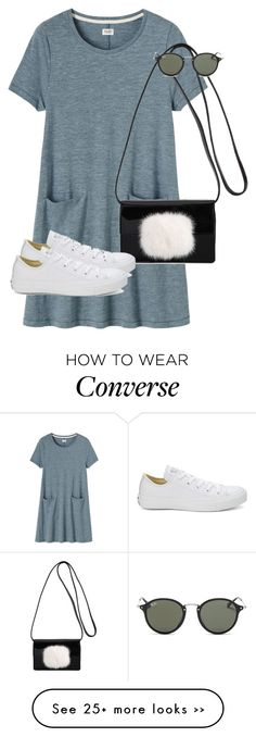 """Untitled #9401"" by alexsrogers on Polyvore featuring Toast, Yves Saint Laurent, Converse and Ray-Ban"