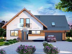 Projekt domu Alion 2M 136,79 m2 - koszt budowy - EXTRADOM Home Fashion, Architecture Design, Villa, House Design, House Styles, Home Decor, Sims 4, Houses