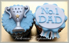 Fathers Day Trophy Cupcakes by Victorious Cupcakes, via Flickr