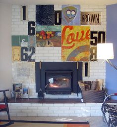 @Kayla Rice we need to get aunt jane to decorate her fireplace like this! It's perfect for it ;p