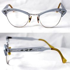 1950's 1960's Vintage Cat Eye Glasses Aluminum by suzytodd on Etsy