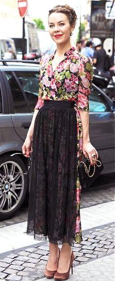 ULYANA SERGEENKO - I love her style.