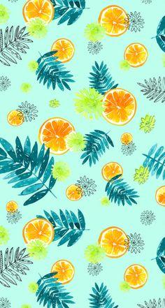 Nathalie-Ouederni-Watercolor-Citrus-Wallpaper-iphone5