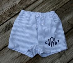 Boys Seersucker Swim Suit Trunks   tinytulip.com - Personalized Gifts at Great Prices - Personalized