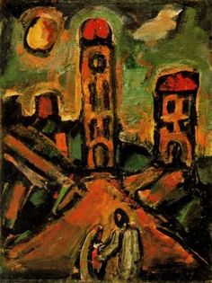 Puesta del sol - 1937 - 1939. 79,4 x 59,7 cm. The Solomon R. Guggenheim Museum. Nueva York. EEUU.