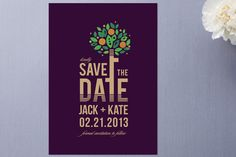 Save the Date - love the tree