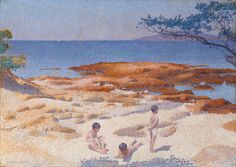 Henri Edmond Cross. Beach at Cabasson (Baigne-Cul), 1891–92. L. L. and A. S. Coburn, and Bette and Neison Harris funds; Charles H. and Mary F. S. Worcester Collection; through prior acquisition of the Kate L. Brewster Collection, 1983.
