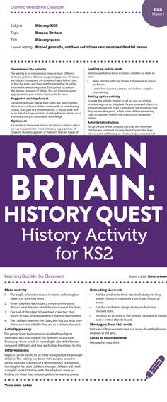Roman Britain - History Activity for Key Stage 2