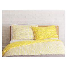 TRENE Yellow patterned kingsize duvet cover set | Buy now at Habitat UK