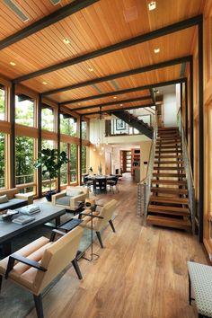 Modern Lake House, Modern House Design, Modern Interior Design, Lake Houses For Sale, Future House, Architecture Design, Landscape Architecture, Building A House, House Plans