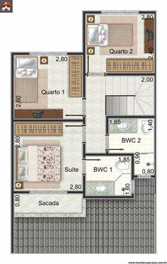 Sobrado 2 Quartos   90.91m² · Floor PlansHouse ... Part 90