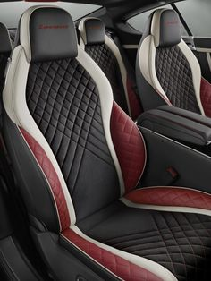 Official: Bentley Continental Supersports and Supersports Convertible – G… Offiziell: 700 PS Bentley Continental Supersports und Supersports Cabrio – GTspirit Custom Car Interior, Car Interior Design, Truck Interior, Interior Door, Interior Ideas, Bentley Continental Gt, Car Interior Upholstery, Automotive Upholstery, Truck Accessories