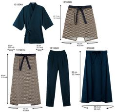 Japanese Traditional Yukata Kimonos Jinbei Pants Aprons - Buy ...