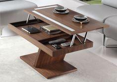 שולחן סלון עם רגל מרכזית